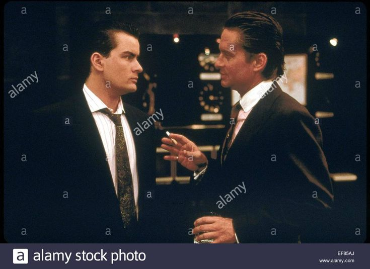 Charlie Sheen & Michael Douglas Wall Street (1987 Stock Photo, Royalty Free…