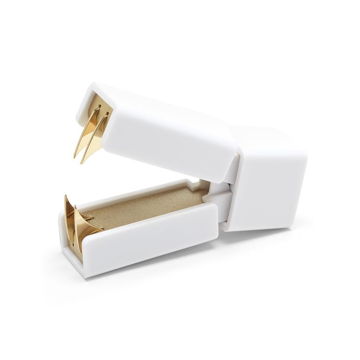 White + Gold Staple Remover | Poppin #metallic #gold #workhappy: