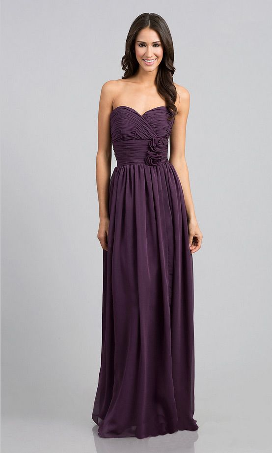 Cheap simple classic sweetheart strapless long bridesmaid prom dress | Cheap prom dresses Sale