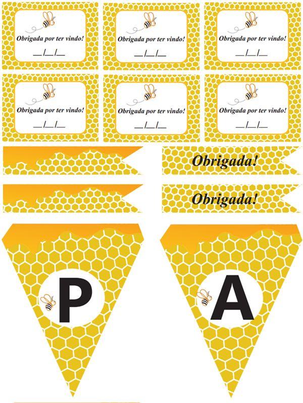 Festa abelhinha para imprimir (grátis!)