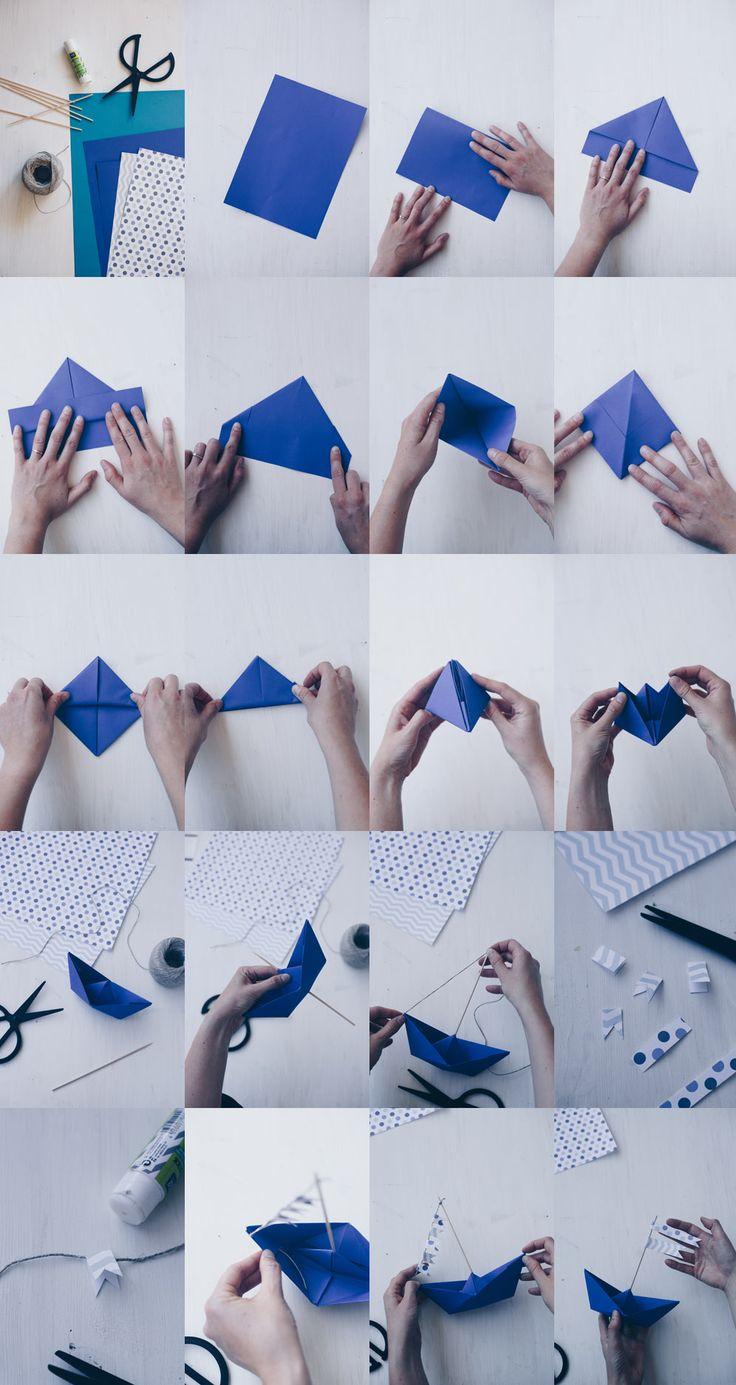 DIY Tischdeko zur Taufe mit Booten – Papierboote falten – Origamit Boote – kreativfieber – DIY Ideen, DIY Geschenke und Rezepte