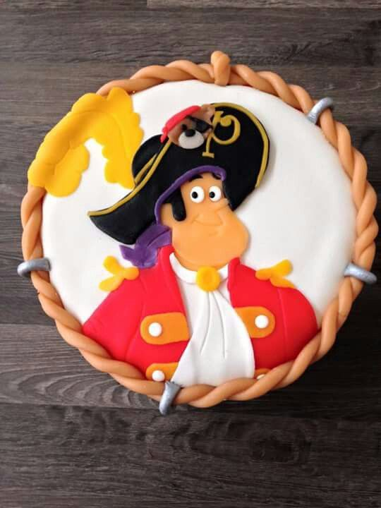 Piet Piraat taart bovenkant