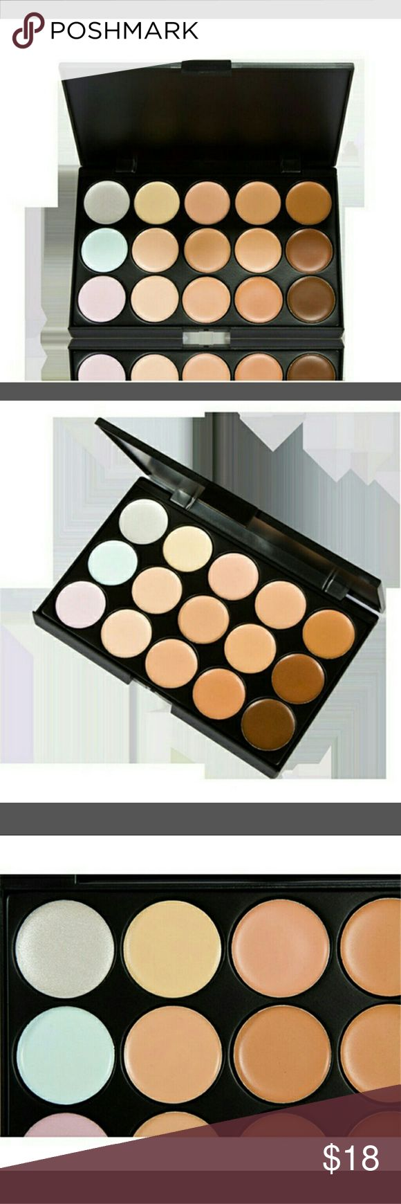 ??NEW?? 15 COLOR CONTOUR PALETTE! All in one contour palette with 15 colors.  Colors are well pigmented.  Tones range from highlighters to deep contour colors for bold cheekbones, instant lifts and contouring.  Perfect kit for beginners to experienced. Makeup