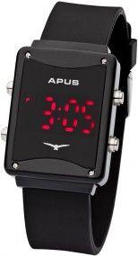 APUS Epsilon Black Red AS-ES-BR LED Uhr Design Highlight