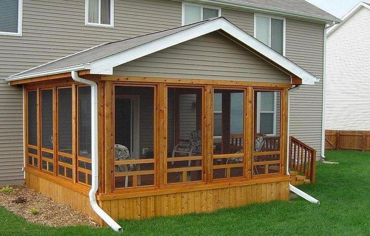 Cedar Screened In Porch ~ http://lanewstalk.com/the-screened-in-porch-design-ideas-to-create-custom-porch/