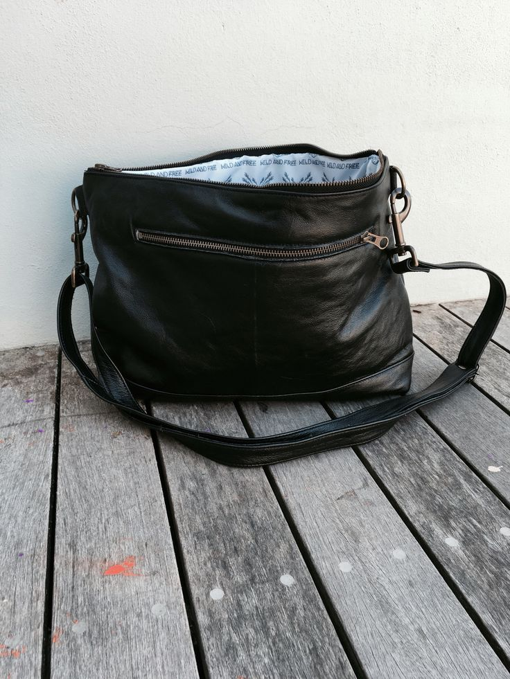 Genuine Leather Gazelle Black Messenger Bag #wild&free #southafrica