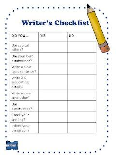 Writer's Checklist for the writer who is making sure that they have correct spelling, and correct conventions.