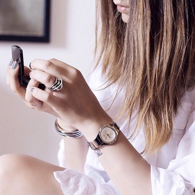 Morning ritual. Blogger Nicoletta Reggio starts her day wearing the Senses watch from Calvin Klein Watches + Jewelry. #ckminute