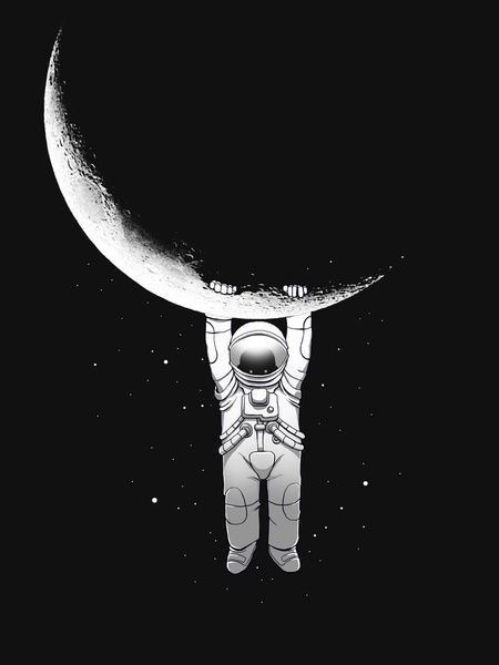 The man on the moon.