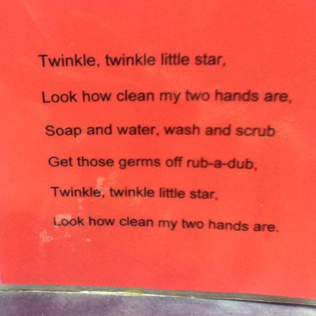 A new hand washing song... relate to germs for science