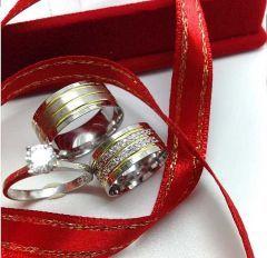 gümüş çift alyans ak1025
