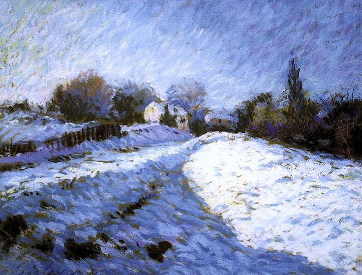 Alfred Sisley - Effet de Neige à Louveciennes