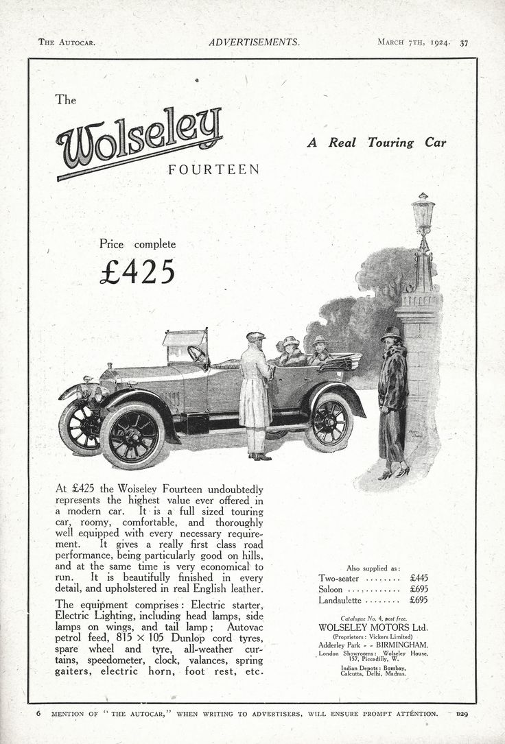 Matchless g 11 csr for sale 1958 on car and classic uk c544589 - Wolseley 14hp Motor Car Autocar Advert 1924