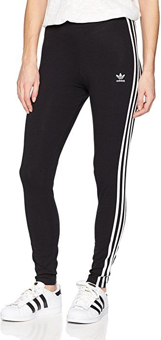 f3e267692cadc adidas Originals Women's 3-Stripes Leggings, Black, Small at Amazon Women's  Clothing store:
