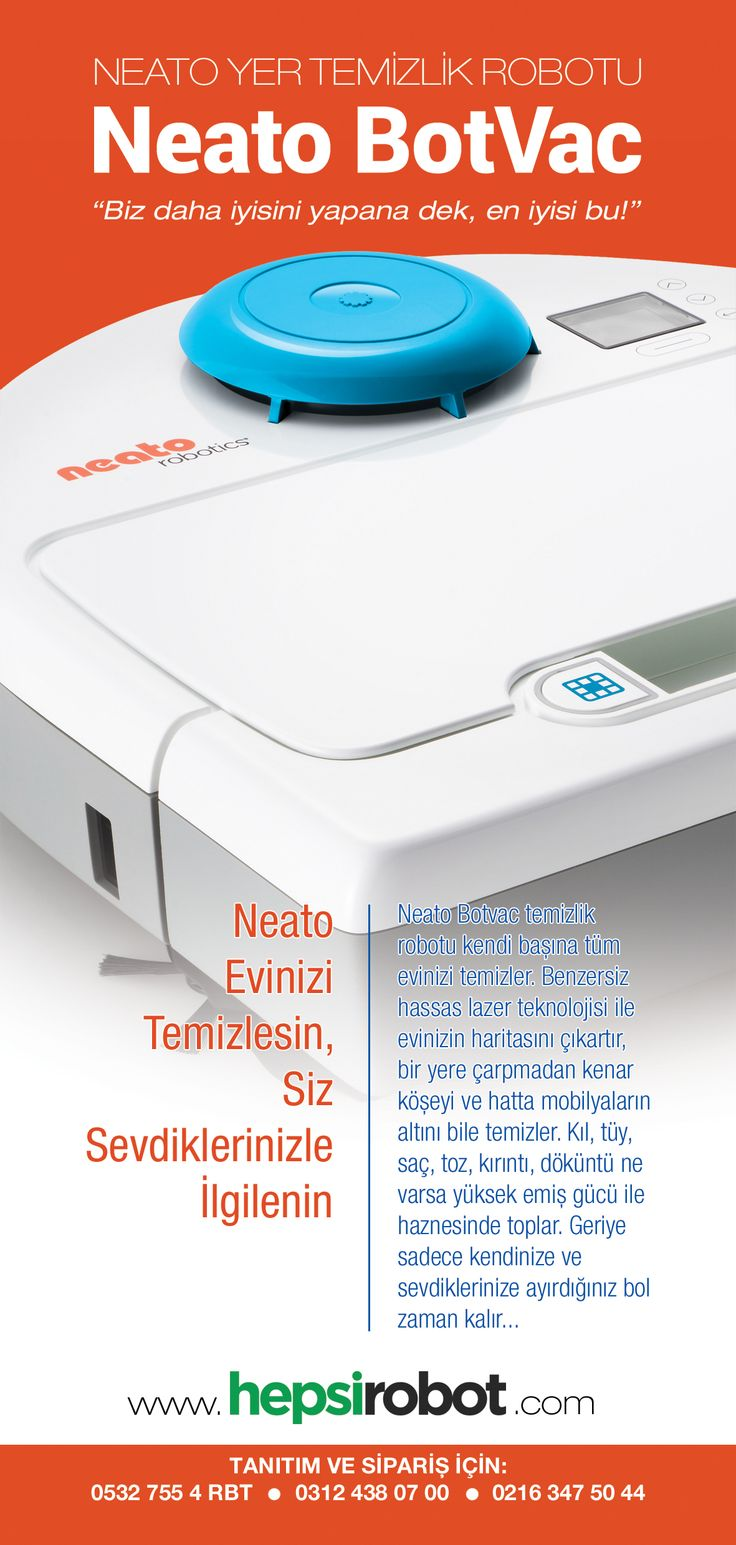 Neato Botvac broşür - ön sayfa