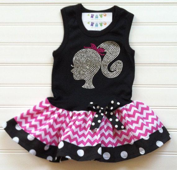 Custom Boutique Silhouette Tank Dress by BabyThreadsByLiz on Etsy