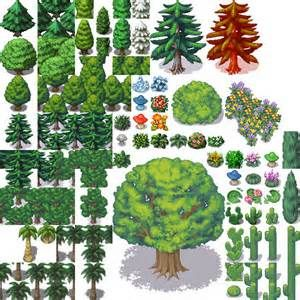 Tree Pixel Art rpg maker - Bing Images