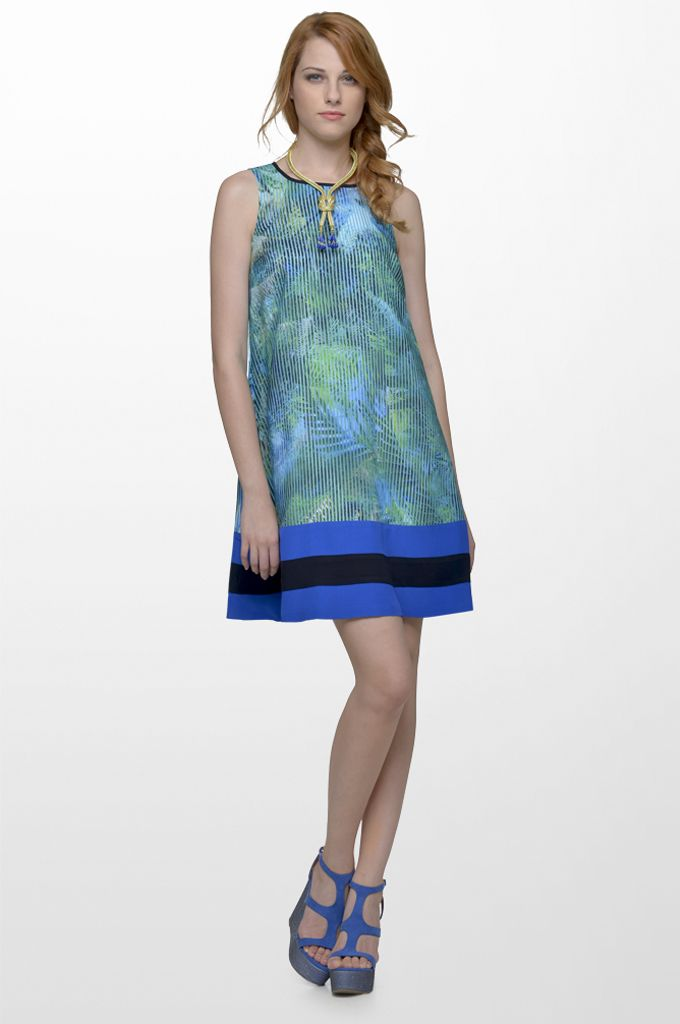 Sarah Lawrence - A line printed dress.
