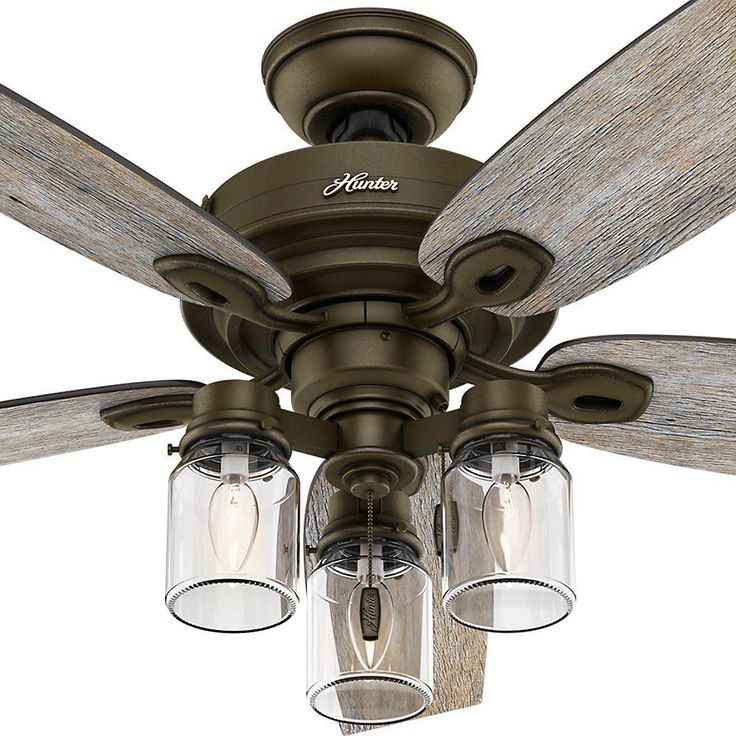 Hunter Crown Canyon 52 in. Indoor Regal Bronze Ceiling Fan-53331 - The Home Depot