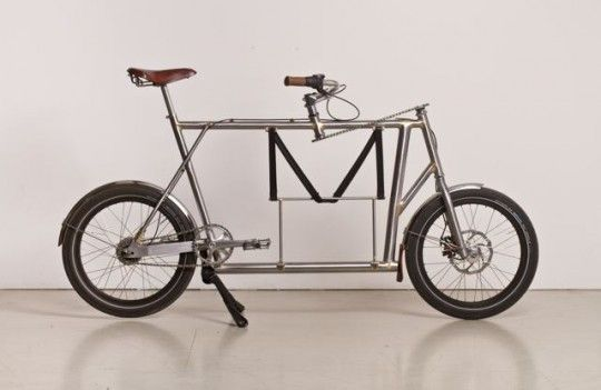 German cargo bike. Neat sprocket and chain steering system. Love the braising.