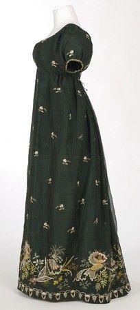 Green Regency Era Dress
