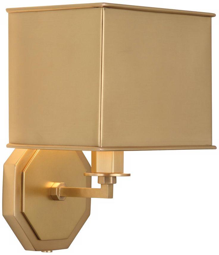 Pythagoras Matte Brass Plug-In Wall Sconce
