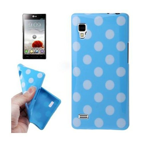 Polka Dots (Sininen) LG Optimus L9 Suojakuori
