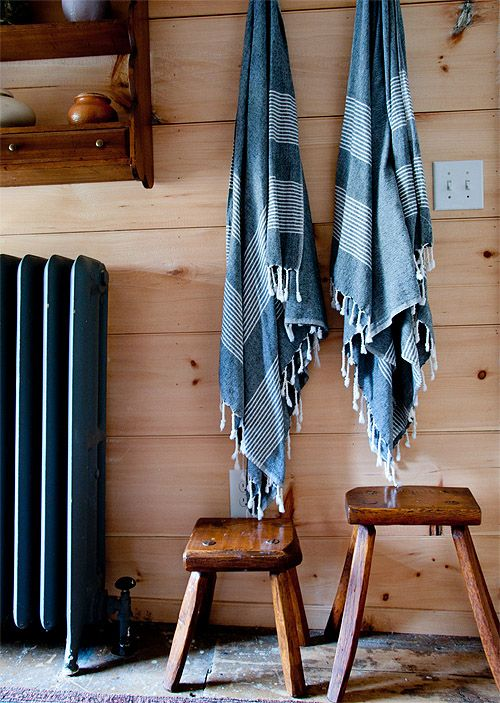 pine plank walls