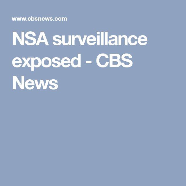 NSA surveillance exposed - CBS News
