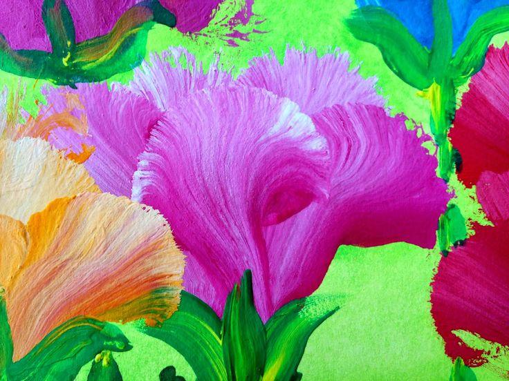 No soy una cebolla: Pétalos de flores ¡con efecto!. Técnica multicarga