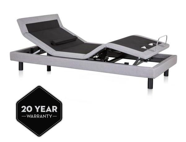 Malouf - Split Cal King Adjustable Bed Base with Head Tilt and Lumbar Support - S700-SCK