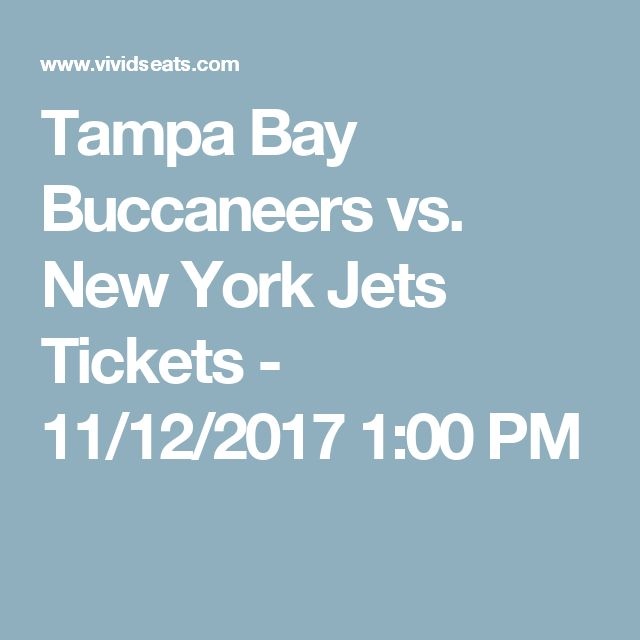 Tampa Bay Buccaneers vs. New York Jets Tickets - 11/12/2017 1:00 PM https://www.fanprint.com/licenses/new-york-jets?ref=5750