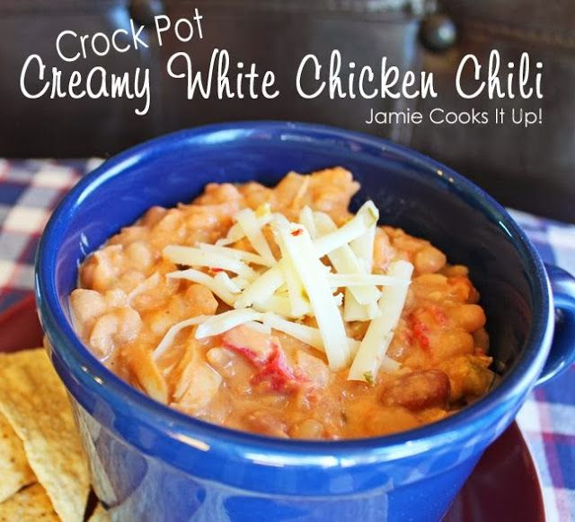 Creamy White Chicken Chili (Crock Pot)