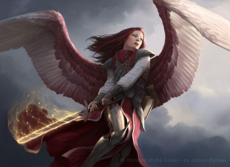 Angel of Thune for MtG by ~namesjames on deviantART