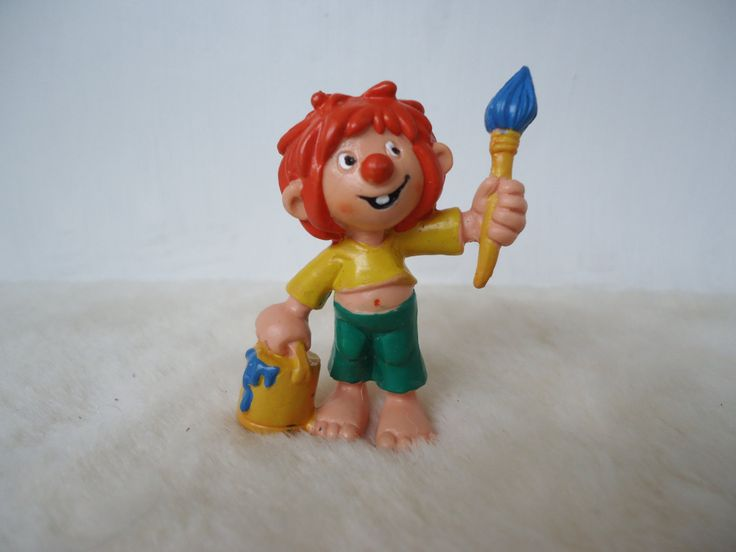Vintage Bully  Pumuckl with  paint bucket pvc toy figure - w. germany, Buchagentur, 1983 by MetalmanEd on Etsy