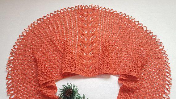 Shawl knit Shawl as a gift Coral shawl Shawl Gift for mom Gift