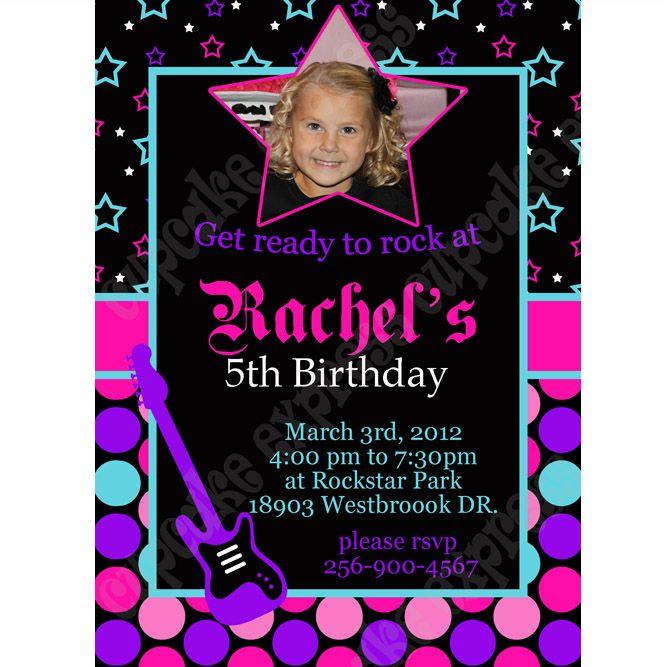 95 best Rockstar Invitations images – Rockstar Birthday Party Invitations