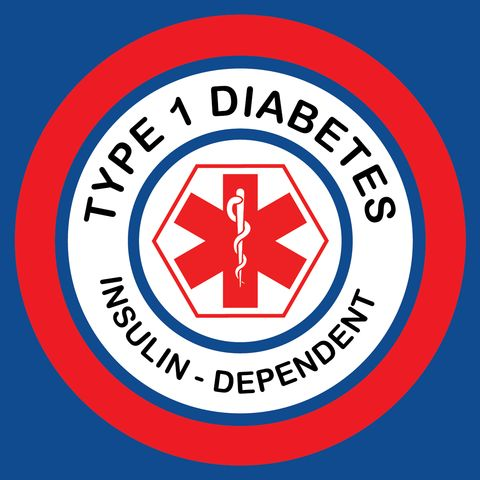 10 pack of type 1 diabetes stickers