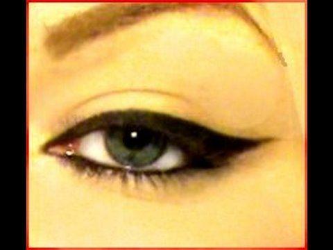 Liquid Liner/gel liner tutorial. The best one I've found for my eye shape thus far. #tutorial #makeup