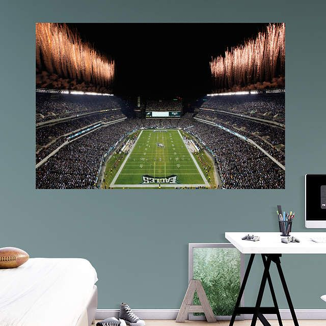 Philadelphia Eagles fan? Prove it! Put your passion on display with a giant Inside Lincoln Financial Field Mural Fathead wall decal!