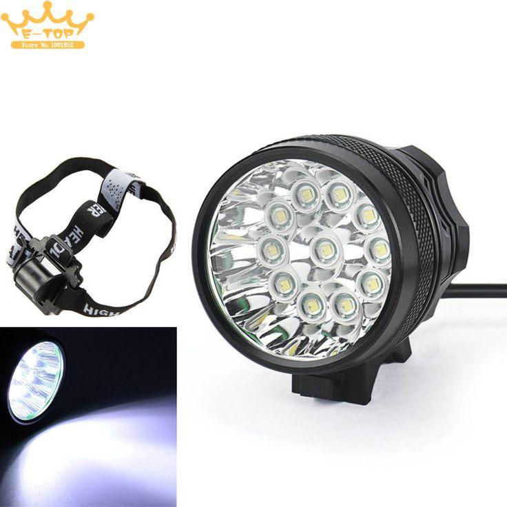 Waterproof 18000 LM 11 x  XM-L T6 LED 8 x 18650 Bicycle Cycling Light Flashing Lamp Headlight + Charger