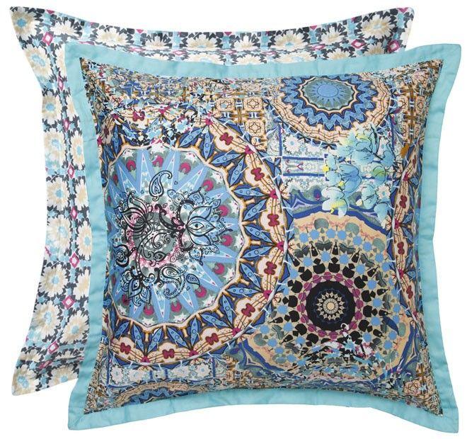 Mandalay Quilt Cover Set Range Aqua | Manchester Warehouse