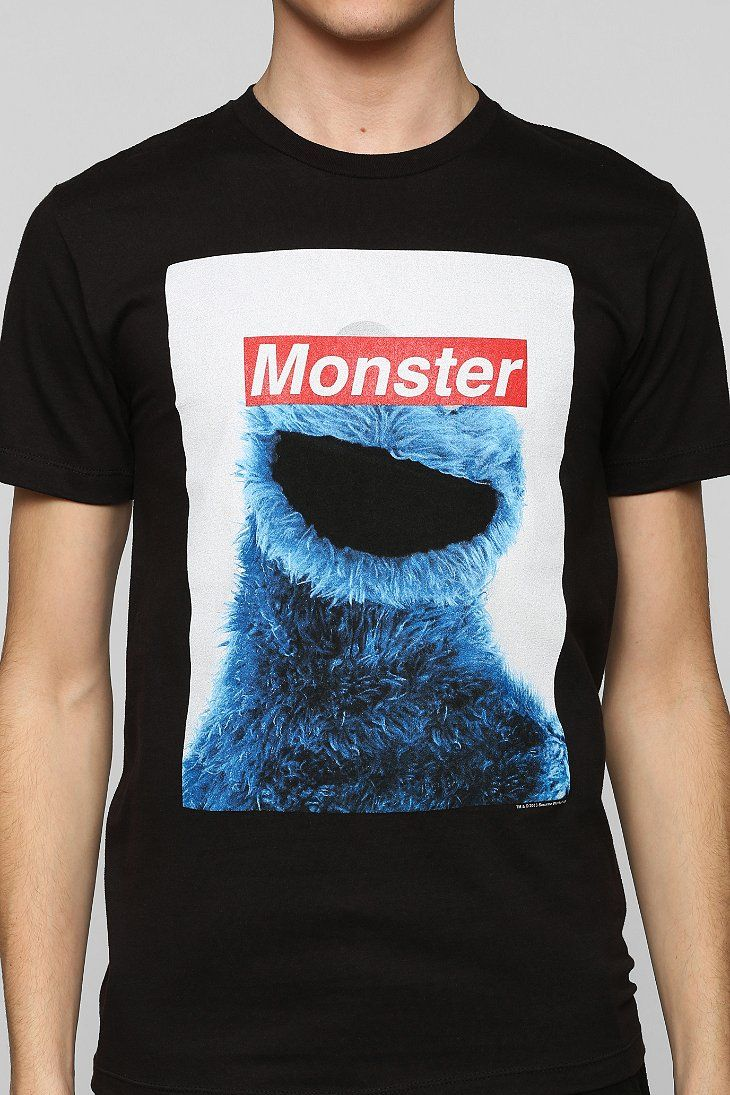 Urban Outfitters Censored Cookie Monster Tee in Black for Men