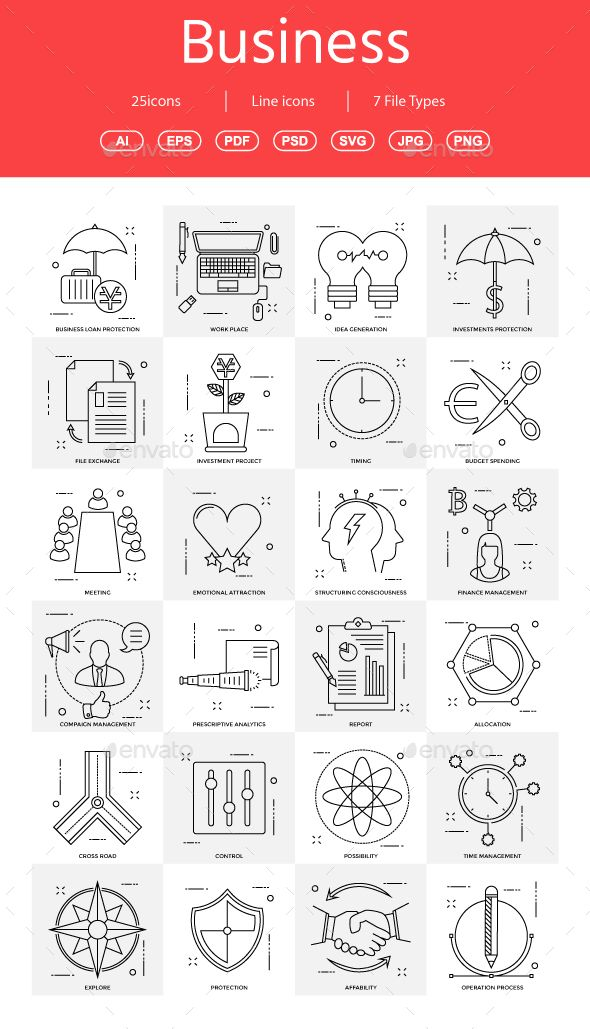15+ Vector Business Illustration vol 14 - #Business #Icons