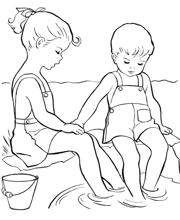 summer wading coloring pages - Coloring Book Pages For Toddlers