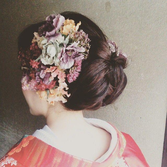 きれいめやわらかアップ #ヘアメイク #ウエディング #前撮りヘアアレンジ #ヘッドアクセサリー #京都前撮り #SERLIA