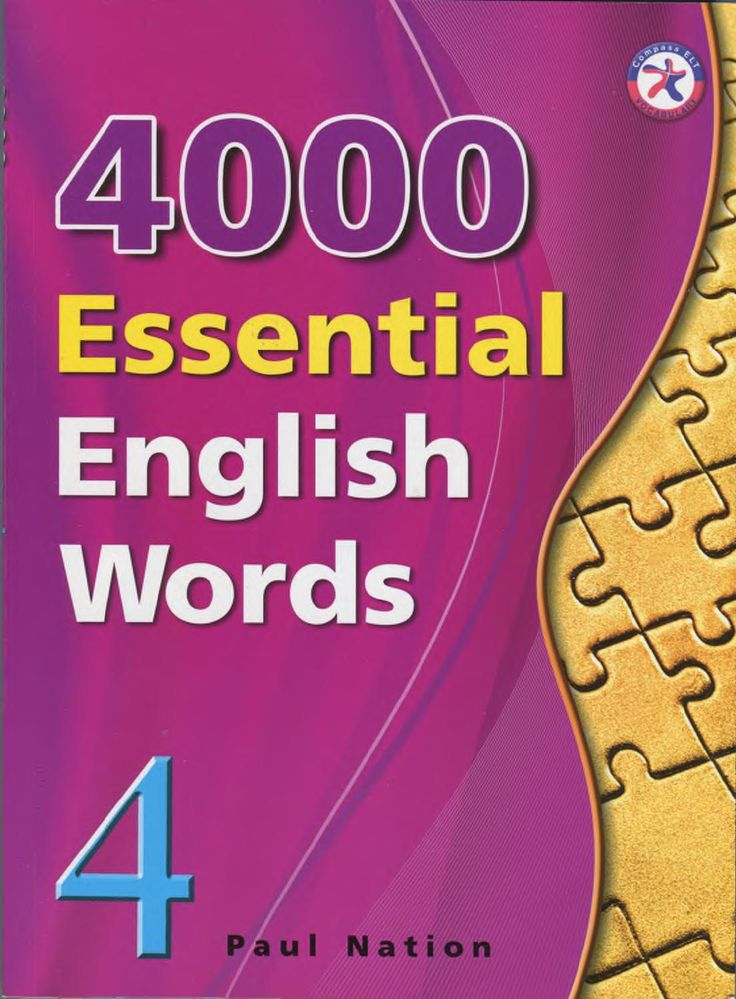4000 Essential English Words is a six-book series that is designed to focuson practical high-frequency words to enhance the vocabulary of learnersfrom high beginning to advance levels. The series presents a variety ofwords that cover a large percentage of the words that can be found inmany spoken or written texts. Thus, after mastering these target words,learners will be able to fully understand vocabulary items when theyencounter them in written and spoken form. Each unit presents 20 words…