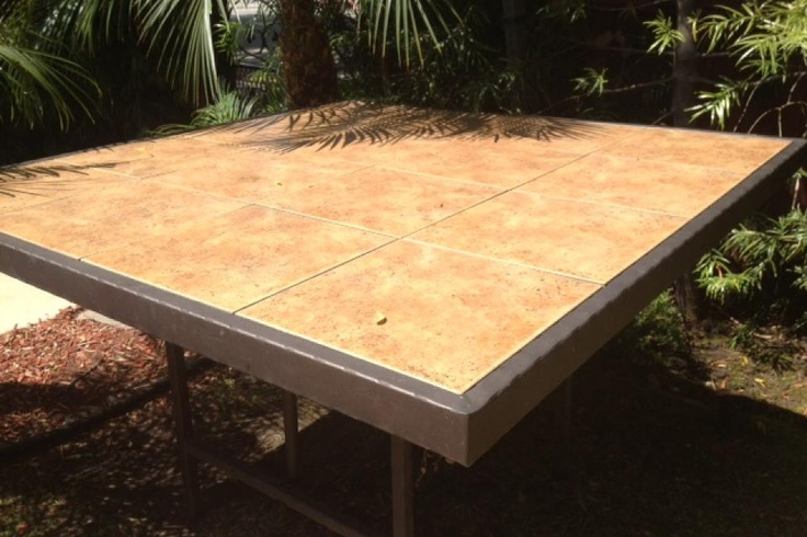 Outdoor Table With Tile Top In 2019 Furniture Update