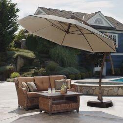 11u0027 Cantilever Patio Umbrella With Base. Costco