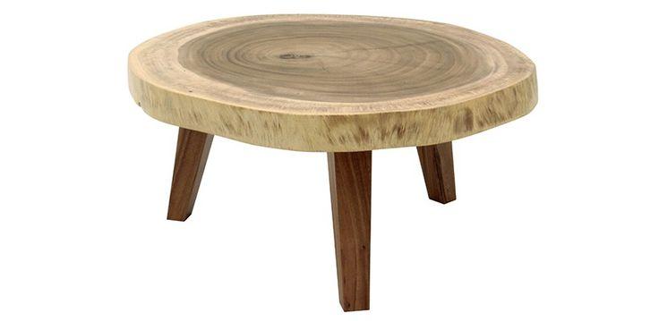 TRONC Table Basse en Bois d'Acacia n°8 - Meubles Sodezign